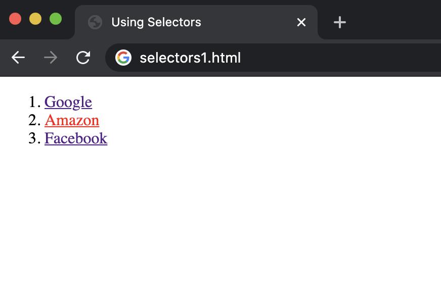 link selectors