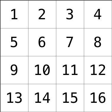a grid of pixels